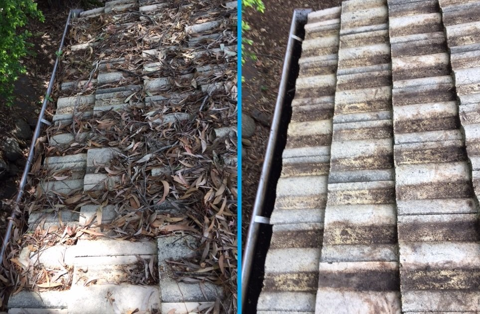 Gutter Cleaning Before & After