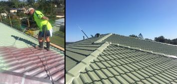 Roof Restoration Before & After